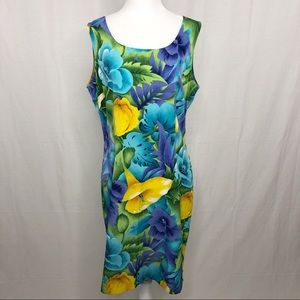 NWOT Sag Harbor Floral Midi Dress, Size 14